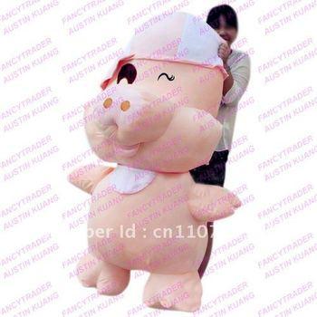 "59"" /150 cm !! JUMBO Giant Stuffed McDull Pig Free Shipping Terrific Birthday Gift & Valentine Gift FT90077"