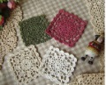 Free Shipping New Square  Hand made crochet square doilies, 10*10cm