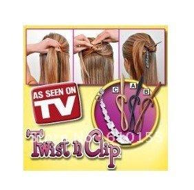 Products!Twist n clip as seen on tv Hair Salon Tool,Magic Dish hair