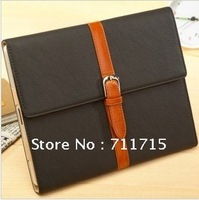 Fashion Slim Magnetic Smart Cover Leather Case for iPad 2 New iPad with Stand Free Shipping
