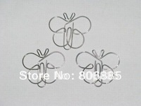 Guarantee 100% Genuine,1.2mm dia, vinyl wrapped iron wire Butterfly-2 shaped fancy clips+ promotional gifts+Free custom shapes