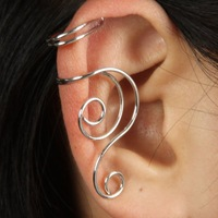 Min order is US$10 High Quality fashion Right ear cuff jewelry Punk clip on earrings Get $6 for single orders than $99