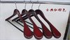 Free shipping!45cm*24cm Clothes Hangers .wooden hanger SM22/Red brown