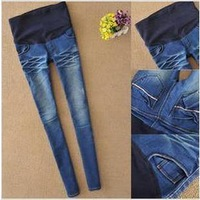 2013 fashion comfortable autumn elastic adjustable waist abdomen denim pregnant/maternity  women's  jeans pants trousers,retail