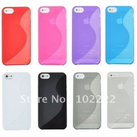 S Line TPU Soft Gel Case Cover For iPhone 5 5G, 110pcs/lot , DHL Free Shipping