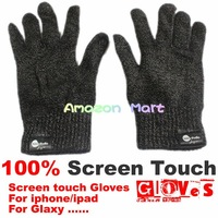 Free Shipping 1Pcs/Lot 100% Full Touch Touchscreen Gloves For Iphone Ipad Samsung Cell Phones Tablets Unisex Best
