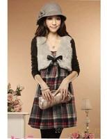 Free shipping+ Women's 2014 autumn and winter one-piece dress woolen tank dress slim