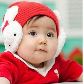 Free shipping Cute Cartoon rabbit Cotton infant cap kids hats