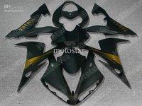 black & gold bodywork for 2004 2005 2006 YZF R1 YZFR1 04 05 06 YZF-R1 full fairing kit +Free gift