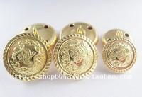 Blazer button gold button buttons overcoat metal button diameter 28mm 30