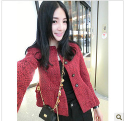 free shipping 2012 autumn and winter new arrival ladies small before and after two ways double layer skirt short jacket(China (Mainland))