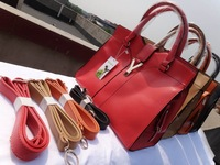 four colors  2012 Fashion Europe Women Lady Handbag Satchel bag PU Leather 4 colours  free shipping