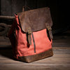 Free shipping 2012 fashion water wash canvas crazy horse leather Popular double-shoulder vintage casual backpack