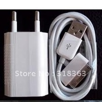 Newest 3PCS EU USB Wall Home Charger AC Adapter + USB cable for iphone EB-iPUT01