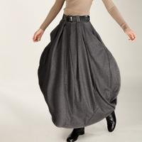 S0076 Custom made Plus size 2014 New women's autumn and winter warm Customized wool Bud long  skirt original design