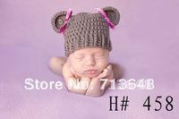 new design photography props handmade crochet  baby hat for lovely girl