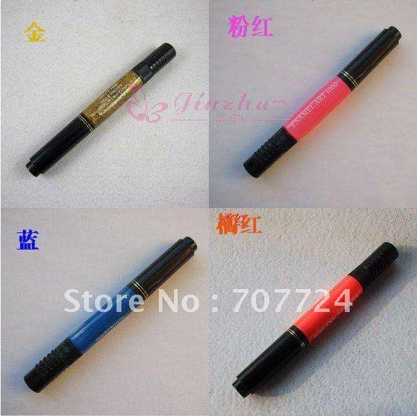 Original top quality star, UV Gel Acrylic Design 3D Paint Nail Art Pen NailPolish 12 Different Colors Nail Polish ,10PCS/LOT(China (Mainland))