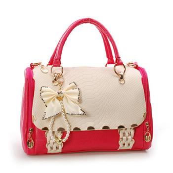 2012 fashion color block female bags one shoulder handbag cross-body strap women's bag