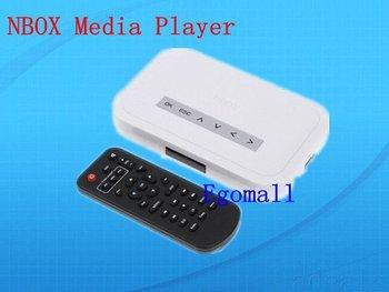 RMVB RM MP3 AVI MPEG Divx HDD TV USB SD Card NBOX Media Player Remote Free shipping S518