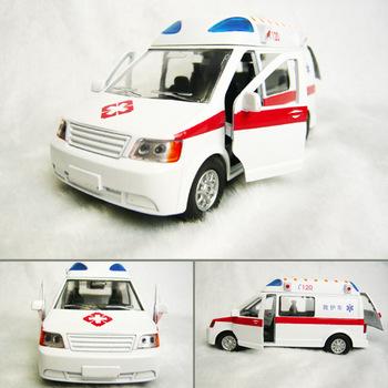 4 WARRIOR plain iveco 120 ambulance alloy car model