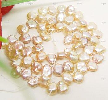 FREE S&H pink keshi pearl beads 7-8mm