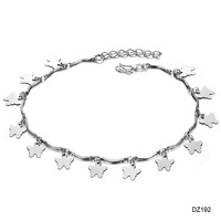 Accessories fashion jewelry sparkling butterfly film silver platinum anklets n192