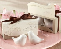 free shipping  Hot selling,20 pcs/lot=10sets/lot,newest wedding favors, love bird salt pepper shaker Wedding gift Ceramic gift
