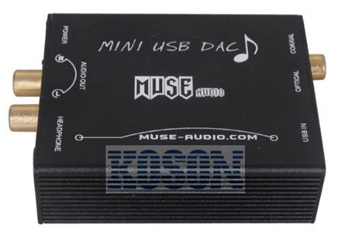 Free Shipping MUSE Fever USB DAC PCM2704 full function PC digital soundcard Optical fiber/coaxial decoder KS074(China (Mainland))