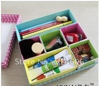 South Korea quality goods YUNAI optimal nye colour lattice DIY folding desktop receive a case sorting box D802