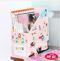 Distorted good DIY file box office file magazine paper desktop receive a case the little girl (large) C050