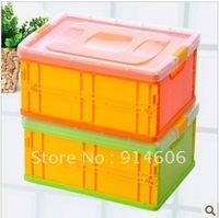 Creative practical plastic folding boxes home receive arrange box D934