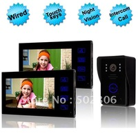 7 Inch Touch Screen Video Door Phone System Two Indoor With One Outdoor  EW-VDP667