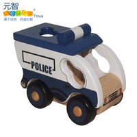 Baby wool car model police car yakuchinone child wooden toy car model toy