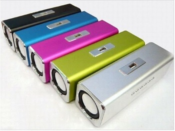 Free shipping Sports MP3 Player Mini Mobile Music Speaker Portable Sound box Boombox with TF Card reader USB + FM Radio