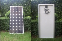 2pcs/lot 100w Monocrystal Solar Panel 12V DC& RV battery charger 100w Solar Panel Module Monocrystalline