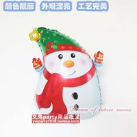 Free shipping New arrival christmas snowman style aluminum balloon Christmas decoration balloon 10pcs/lot