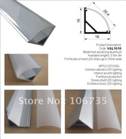 Wholesale 10meters - Aluminium Corner LED Profile with frosted or semi-clear diffuser, Alu 45 degree linear led strip profiles