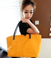 2013 Korean shopping package new women's irregular shape car suture leisure shoulder handbags free shipping W0716