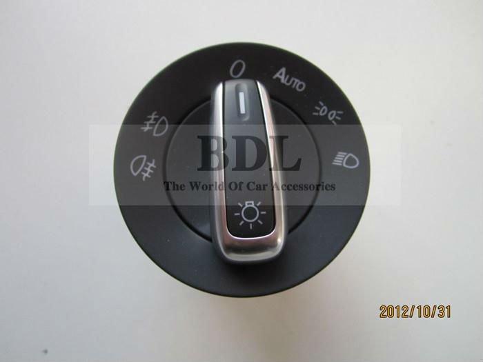 OEM Chrome Auto Headlight Fog light switch for VW CC TIGUAN GOLF JETTA MK5 MK6 PASSAT
