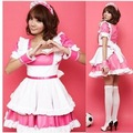 free shipping, sexy costume,maid outfit,gauze+lace,free size 10pcs/lot