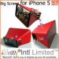 For Apple iPhone 5 Big Screen for Viewing Videos Hands Free and In Wwice the Screen Size(China (Mainland))