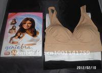 3 pcs/set Genie Bra with removable pads Women's Two-double Vest BODY SHAPER Push Up BREAST RHONDA SHEAR  150pcs/lot