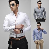 012 hot sale  New Mens Shirts Casual Slim Fit Stylish Mens Dress Shirts