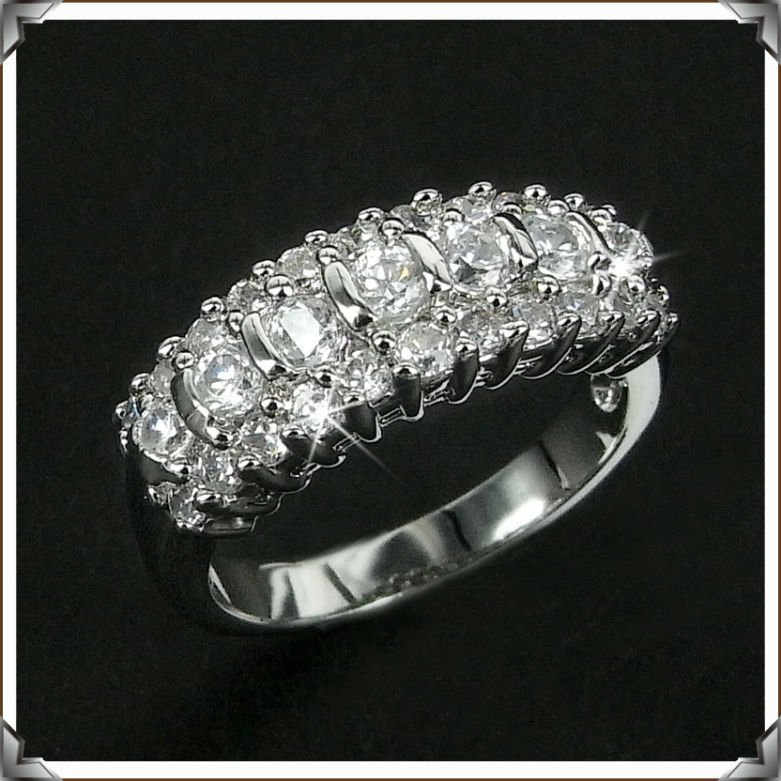 JA-3735, Free shipping for Wholesale top unique engagement rings for women lord of zirconia ring jewelry crystal crafts(China (Mainland))
