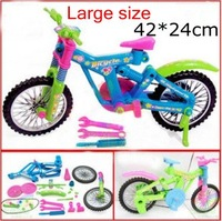 Large size children simulation removable bicycle model toy, kids educational assembling toys, ability training + free shipping