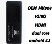 1pcs/lot Newest! Mini PC RK3066 MK808 MK802 III HDD Player Dual Core IPTV Set Top Box/Sticker,HDMI Out+1.6GHZ,1GB/8GB Nandflash