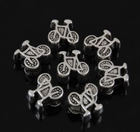 11*11mm bike large hole beaded fashion retro accessories Tibetan silver of accessories wholesale 20pcs/pack free shipping