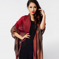 OTTO top quality Bull . 2012 autumn and winter Women scarf large plaid cashmere scarf cape dual free shipping