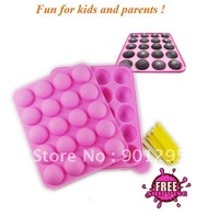 MIN$30 Wholesesale-5PCS NEW SILICONE NON STICK CAKE POP SET BAKING TRAY MOLD BIRTHDAY PARTY 20 units