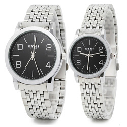 Free Shipping EYKI Men's Wrist watch, Fashion Couple Watch Stainless Steel Strap Japanese Quartz Movement 1 ATM Water Resistent(China (Mainland))